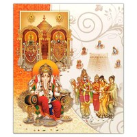 Auspicious Shades of Blessing Invitation card-KNK4802