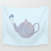 Teapot Wall Tapestry by sm0w