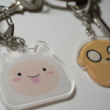 Adventure Time Finn & Jake acrylic charms