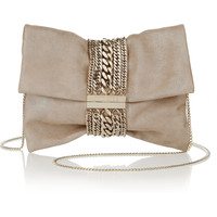 Jimmy Choo - Chandra glittered suede shoulder bag