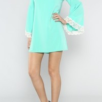 Lace Sleeve Tunic Dress