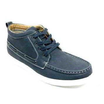 Men's 55015 Ankle High Lace Up Round Toe Moccasin Sneaker Boots