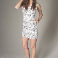 Aztec Fitted Dress