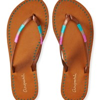 Perf Color Wrap Flip-Flop