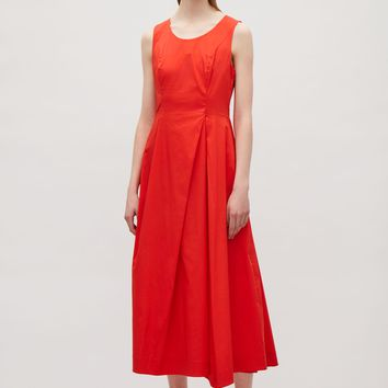 Flared sleeveless dress - Signal Red - Dresses - COS US