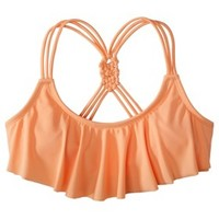 Xhilaration® Junior's Hanky Swim Top -Creamsicle