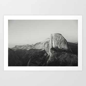 Half Dome V (black and white version) Art Print by Hraun Photography