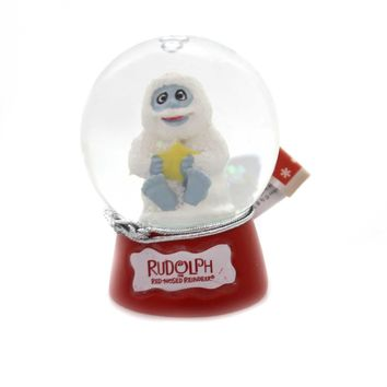 Christmas RUDOLPH SNOWGLOBE Glass Red Nose Reindeer 39225 Bumble