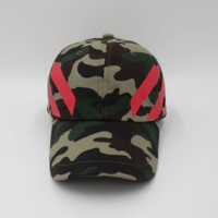 Camouflage Off White Embroidered Adjustable Cotton Baseball Golf Sports Cap Hat