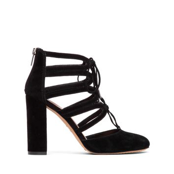 Vince Camuto Shavona Lace Up Block Heel