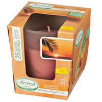 Air Fresh Tropical Breeze Scented Glass Jar Candles, 3 oz.