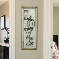 Stratton Home ''Love'' Wall Decor