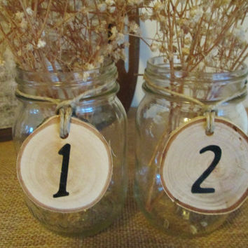 Table Numbers Set of 30, Table Numbers, Wedding Numbers, Rustic Numbers, Guest Seating Numbers