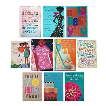Hallmark Mahogany 10 Birthday Cards Assortment, Funny Birthday Card - Free Shipping