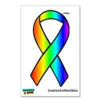 Rainbow - Gay Pride Ribbon Sticker