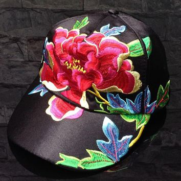 Novelty Floral Running Baseball Cap Women Hat Adjustable Polo Cap Snapback Female Unse