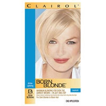 Clairol Born Blonde All Over Lightening For Light Blonde To Dark Brown Hair, Ultra Blonding B, Maxi