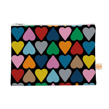 """Project M """"Up and Down Hearts on Black"""" Everything Bag"""