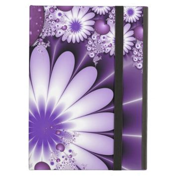 Falling in Love Abstract Flowers & Hearts Fractal iPad Air Covers