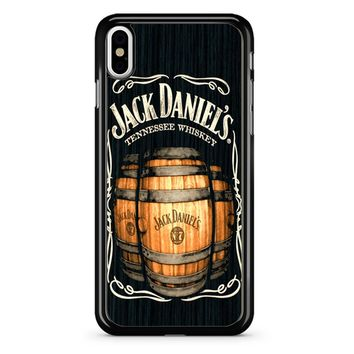 Jack Daniels On Black Wood 2 iPhone X Case