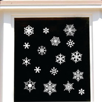 Snowflake Assortment | Holiday Vinyl Decal | Christmas Decoration