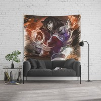 League of Legends Ahri Wall Tapestry by naumovski