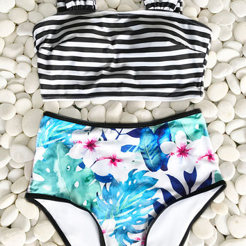 Cupshe Flower Or Not Print Bikini Set