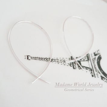 Plain Wishbone Hoop Earrings