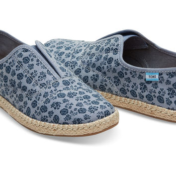 NAVY DITSY FLORAL WOMEN'S PALMERA ESPADRILLES