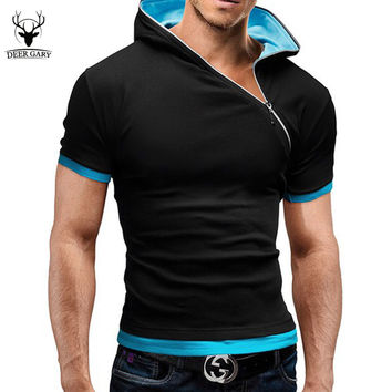 inclined zipper designer shirt