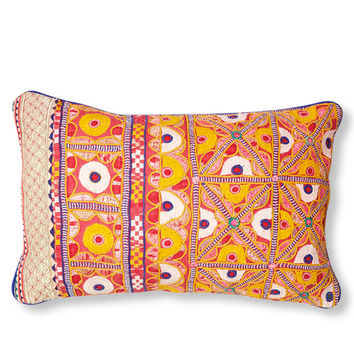 Ananya Embroidered Lumbar Pillow