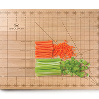 OCD CUTTING BOARD | Kitchen Tool, Chopping Block, Measuring, Cooking, Solid Wood | UncommonGoods