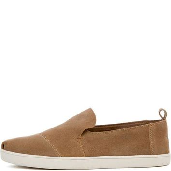 DCCKLP2 Toms Women's Deconstructed Cupsole Alpargata Toffee Suede Flat