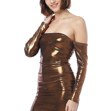 Disco Night Cross Strap Back Mini Dress