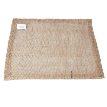 Burlap Table Placemat Sewn-edge, 17-inch