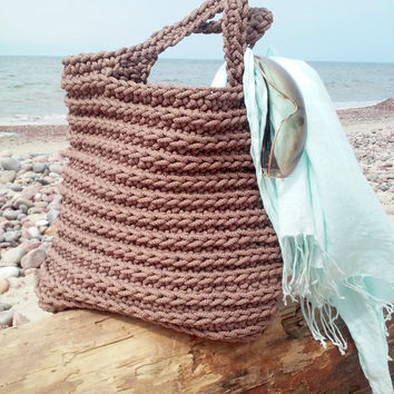 Knitted Bag/ Rope Bag/ Handmade Bag/ from NataNatastudio on Etsy