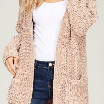 Set In Stone Cardigan - Taupe