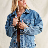 Urban Renewal Recycled Corset Denim Jacket | Urban Outfitters