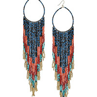 Cascade Beaded Hoop Earrings - Topshop USA