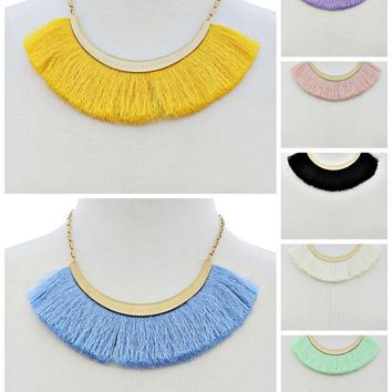 On The Fringe Boho Necklace in 7 Colors