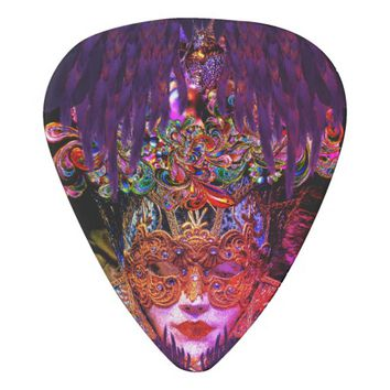 Mysterious Masquerade Ball Beauty guitar pick