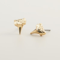 Gold Shark Tooth Stud Earrings - World Market