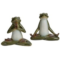 Yoga Frog Bookend Set