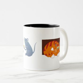 Cat & Mouse Two-Tone Coffee Mug