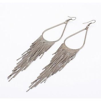 Multi Color Long Chain Tassels Earring Boho Style Fashion Bohemian Dangle Drop Earrings Vintage Statement Jewelry 1E332