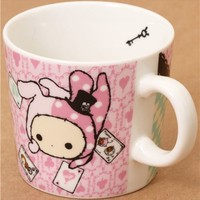pale pink Sentimental Circus cup rabbit playing cards - Cups-Mugs - Bento Boxes