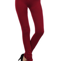 3/4 Rise Thick Fleece Lined Leggings