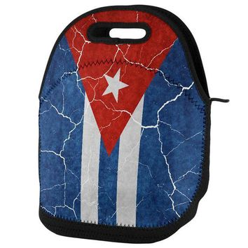 PEAPGQ9 Distressed Cuban Flag Lunch Tote Bag