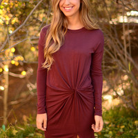 Breathe Me In Dress- Burgundy