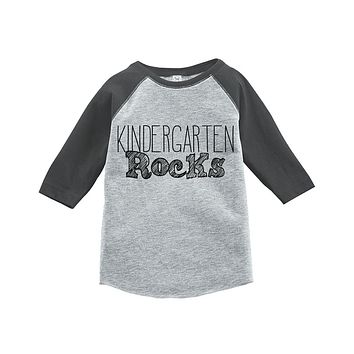 Custom Party Shop Kids Kindergarten Rocks School Raglan Tee